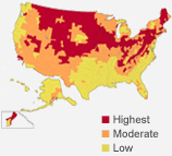 Radon Risk Zones in the USA
